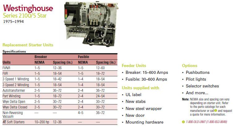 Overload Heater Chart Cutler Hammer on
